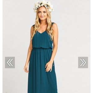 Show Me Your Mumu Kendall Dress Deep Jade